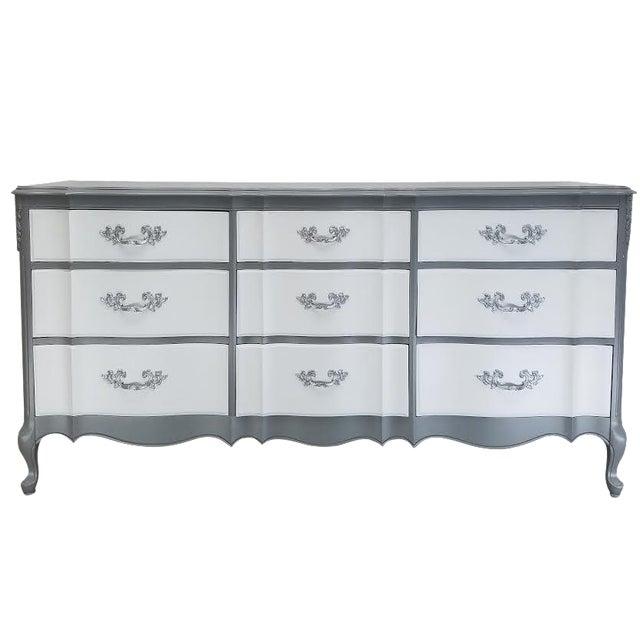 French Platinum Gray Dresser - Image 1 of 5