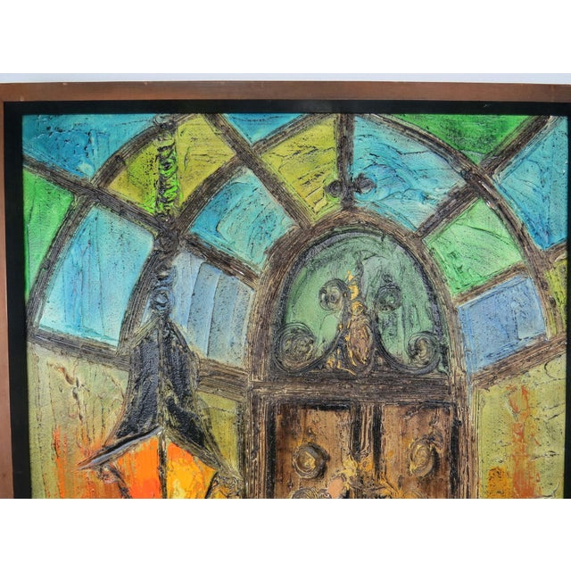 Original Mid-Century Gothic Painting on Board by Van Hoople For Sale In Chicago - Image 6 of 13