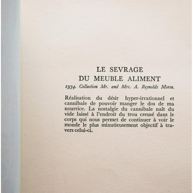 "1950s 1957 Salvador Dalí, ""Le Sevrage Du Meuble Aliment"" Large Period Lithograph Print For Sale - Image 5 of 10"