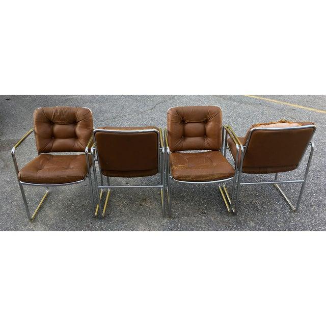 Chromcraft ChromCraft Tubular Chrome Dining Chairs - Set of 4 For Sale - Image 4 of 9