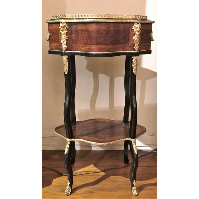 Antique French Marquetry Jardiniere, Circa 1880.