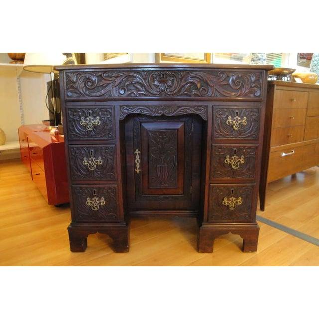 George II Style Mahogany Desk - Image 8 of 8