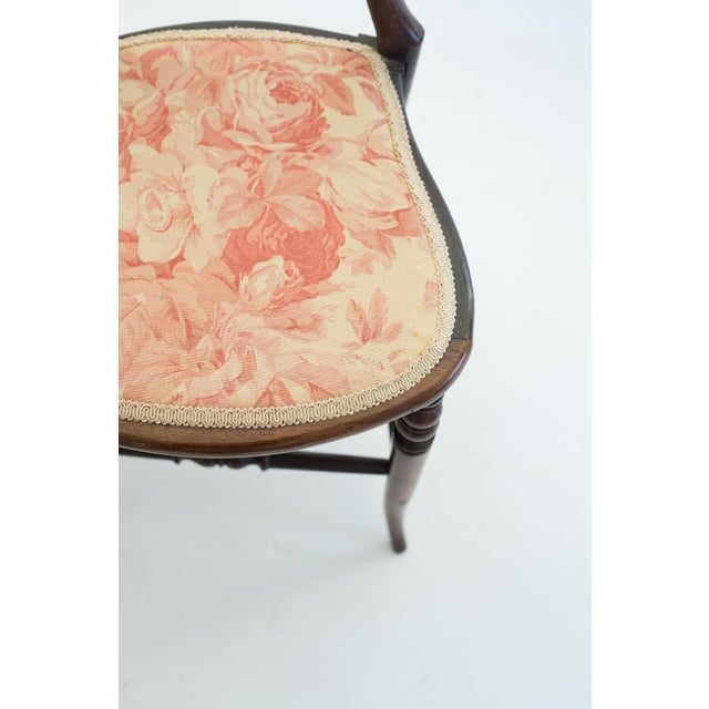 English Traditional Pair of Mahogany Balloon-Back Chairs/Bennison Seats For Sale - Image 3 of 7
