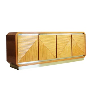 Mid-Century Modern Gold Base Credenza For Sale