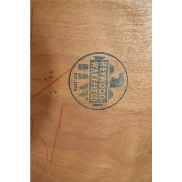 1950s Mid Century Modern Heywood Wakefield Side Table For Sale - Image 10 of 11
