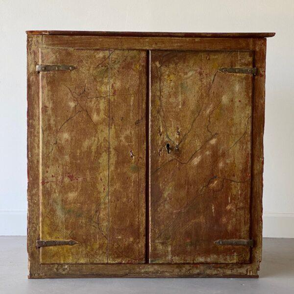 19th Century Painted Corner Cabinet For Sale In West Palm - Image 6 of 10