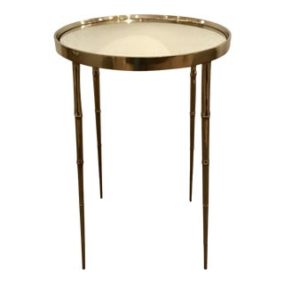 Barbar Barry for Henredon Asian Modern Silver Coco Accent Table For Sale