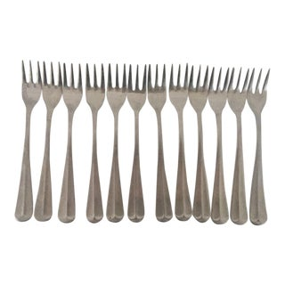 Vintage Stainless Steel Cocktail Forks - Set of 12 For Sale