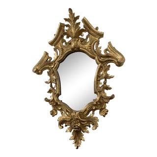 Antique 19th Century Italian Baroque Gilt Mirror For Sale