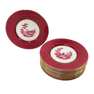 Spode Scenic Dinner Plates - Set of 12 For Sale
