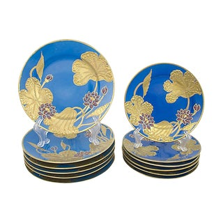 Art Nouveau Nippon Plates, S/12 For Sale