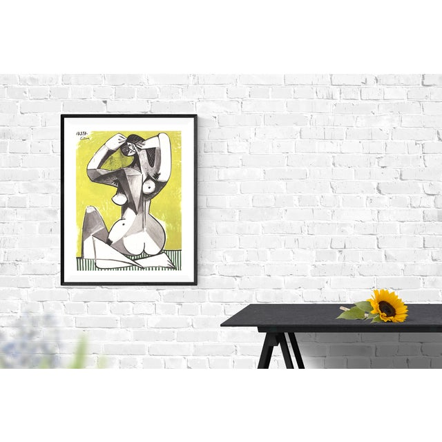 "Cubism Pablo Picasso ""Nu Accroupi"" 2002 Poster For Sale - Image 3 of 3"