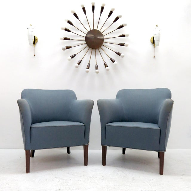 1940 Fritz Hansen Club Chairs 'Model 1146' - a Pair For Sale - Image 10 of 12