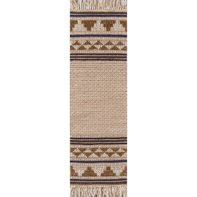 """Textile Esme Ivory Hand Woven Area Rug 2'3"""" X 7'6"""" Runner For Sale - Image 7 of 7"""