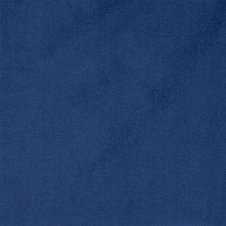 Schumacher Empress Performance Velvet Fabric in Navy For Sale