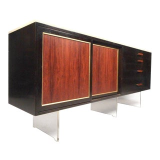 Harvey Probber Mid-Century Modern Marble-Top Sideboard For Sale