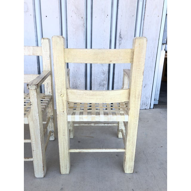 Coastal Hand Carved Chairs by Kreiss For Sale - Image 6 of 7