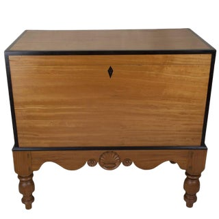 Early 1900s Satinwood and Ebony Chest on Stand, Colonial British