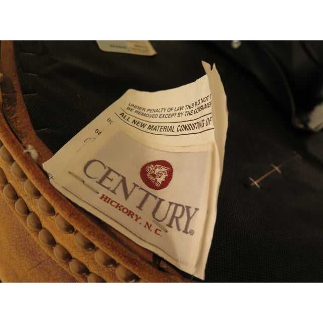 Century Tufted Leather Office / Desk Chair For Sale - Image 11 of 12