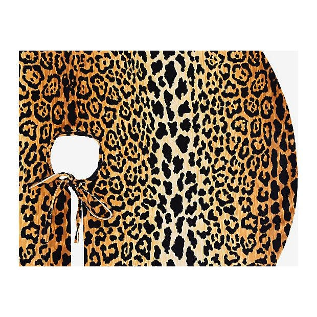 """Custom Tailored X-Large 55"""" Leopard Velvety Christmas Tree Skirt - Image 9 of 11"""