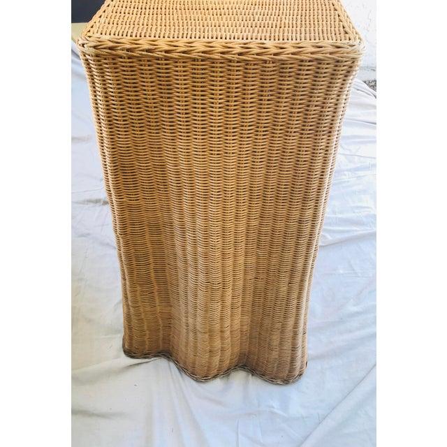 "Trompe l'Oeil ""Drape"" Wicker Ghost Console Table For Sale - Image 4 of 11"
