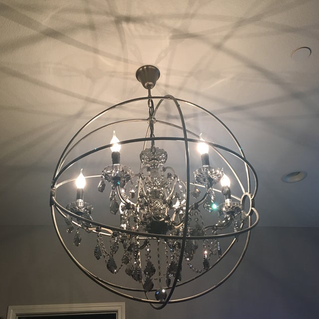 Foucault's Orb Crystal Chandelier - Image 2 of 4