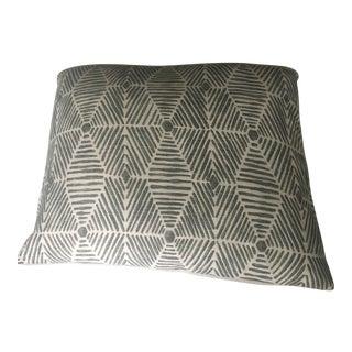 Large Batik Block Print Pillow