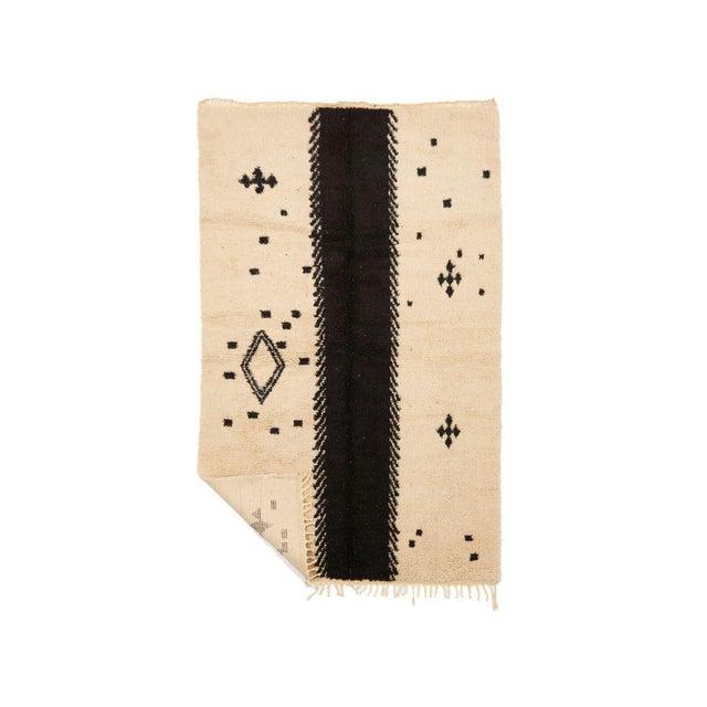 Beni Ourain Handwoven Rug - 5′10″ × 9′6″ - Image 2 of 2