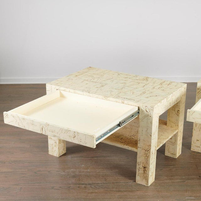 Pair Juan Pablo Molyneux Side Tables For Sale - Image 4 of 7