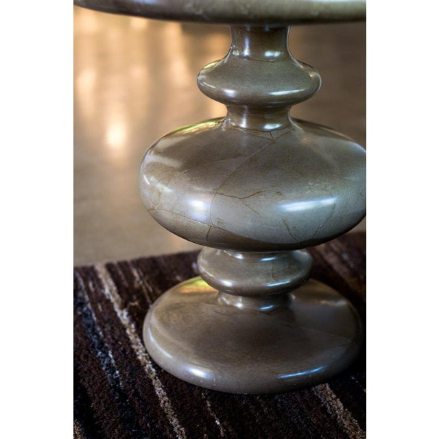 Pair of Goatskin Side Tables in the Manner of Aldo Tura For Sale In Austin - Image 6 of 12