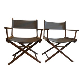Vintage Restored Directors Chairs - A Pair For Sale