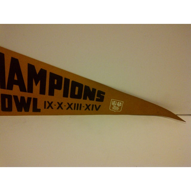 1980 Vintage NFL Pittsburgh Steelers Super Bowl Champions Team Pennant - Image 4 of 5