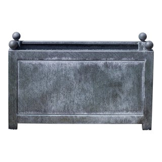 Rectangular Norbury Planter, Small, Zinc For Sale