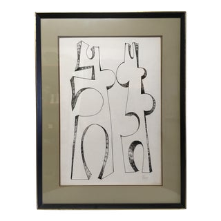 Abstract Ink on Paper by Artist Robert George Gilberg