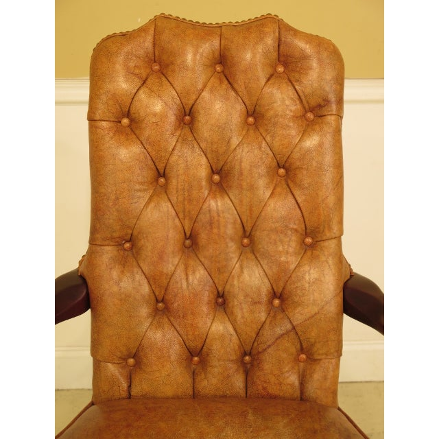 CENTURY Tufted Leather Office Or Desk Chair Age: Approx. 20 Years Old Details: Traditional Style Aging Characteristics &...