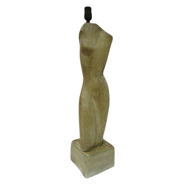 Going Going Gone Modernist Sculptural Nude Form Lamp For Sale