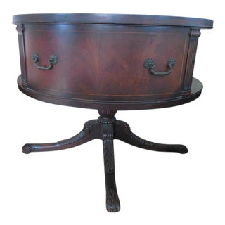 1940s Mahogany Revolving Drum Table