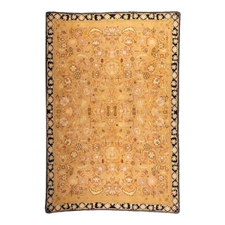 Vintage Hand-Woven Portuguese Sumac Rug For Sale