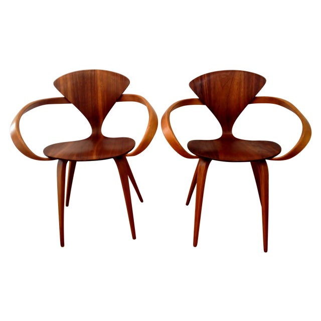 Norman Cherner Pretzel Chairs - A Pair - Image 1 of 7