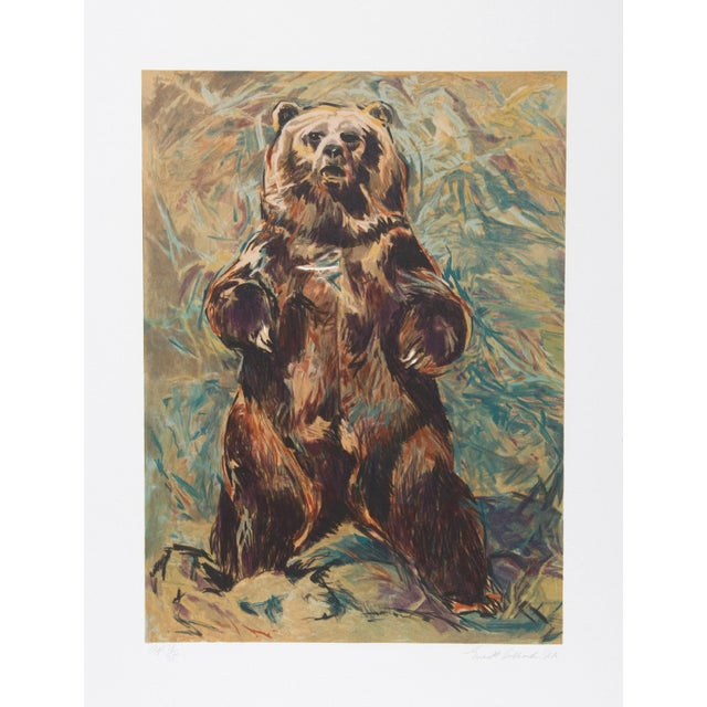 Rustic Everett Hibbard, Standing Bear, Lithograph For Sale - Image 3 of 3