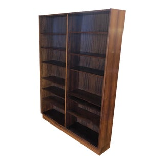 Poul Hundevad Danish Rosewood Mid Century Bookcase For Sale