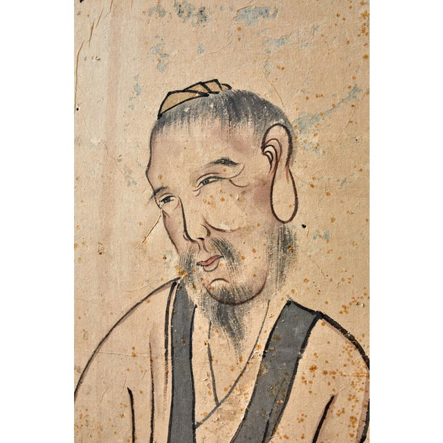 Korean Six-Panel Screen of Legendary Chinese Figures For Sale - Image 11 of 13