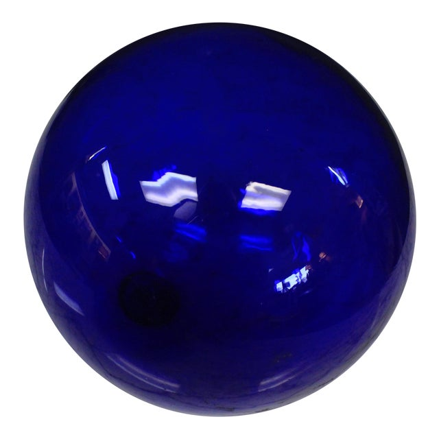 Cobalt Art Glass Ball For Sale