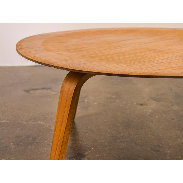 Contemporary Vintage Eames Molded Coffee Table Wood Base For Sale - Image 3 of 9