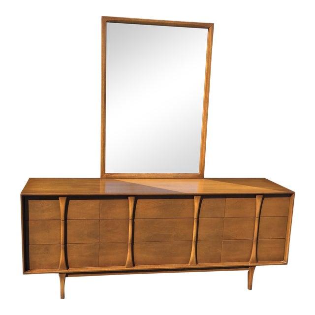 Red Lion Co Mid-Century Dresser & Mirror - Image 1 of 9