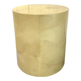 Enrique Garcel Lacquered Goatskin Pedestal Table For Sale