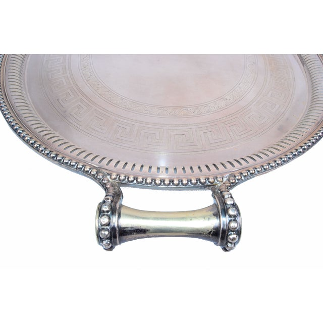 James Dixon & Sons for Sheffield Silver-Plate Tray For Sale - Image 5 of 10