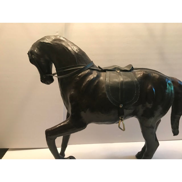 1980s 1980s Vintage Leather Horse For Sale - Image 5 of 8