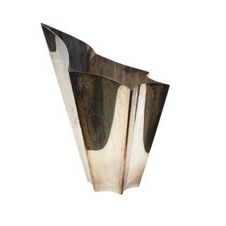 Lino Sabattinoi Silver Vase For Sale