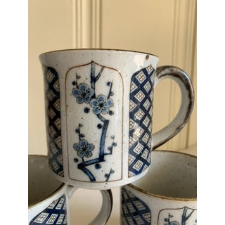 Vintage Japanese Cherry Blossom Mugs, Set of Four Preview